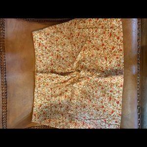 Express stretch floral skirt